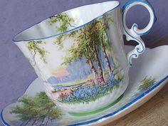 Tazza di tè dell'annata 1930 Aynsley art deco di ShoponSherman