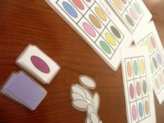 Make your own color bingo. Then start practicing colors! Preschool Projects, Preschool Activities, Classroom Projects, Classroom Ideas, Bingo Cards, Printable Cards, Bingo Games For Kids, Make Your Own Game, Teaching Colors