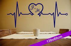 Heartbeat 130x60cm - Wandtattoo von DOON Germany auf DaWanda.com