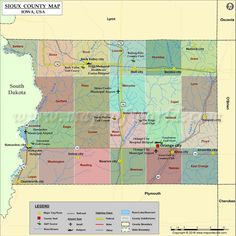 Sioux County Map for free download