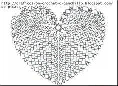CROCHET - GANCHILLO - PATRONES - GRAFICOS: Un corazon para papà , tejido a crochet con grafico