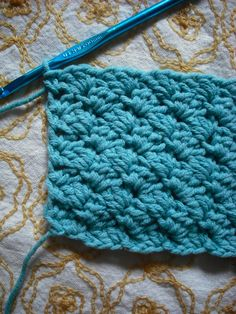 This is an awesome stitch.   Beautiful, easy, and just slightly lacy. Purple Chair Crochet: Sedge Stitch Tutorial (Free!)