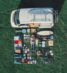 VW camper van and it's gear. It is a great feeling whether you are on a sailboat cruising, or traveling in some form of 'land yacht', to have everything that you need to bring 'home', with you. Traveling this way is unique. As home moves with you, even though you may be in a foreign land, the only thing that remains unfamiliar is the landscape, and the faces that are sitting on the other side of your table. McC