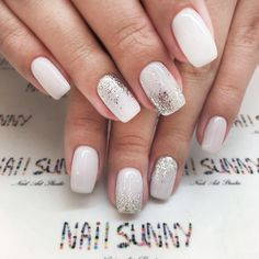 Popular Wedding Manicure Glitter Ombre picture 2