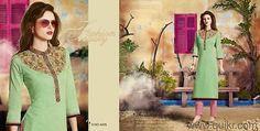 Indian Bollywood Kurta Kurti Designer Women Ethnic embroidery Dress Top Tunic