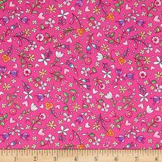 Michael Miller Tweet Me Bitty Blooms Pink