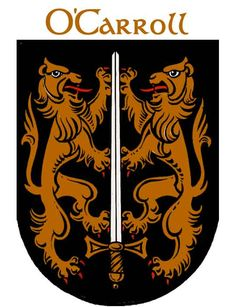 O'Carroll Coat of Arms, my ancestor's Leap castle in Ireland