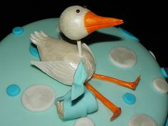 Stork theme baby shower cake.