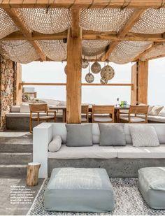 Outdoor Lifestyle : Photos Terrace – Home Decoration Outdoor Seating, Outdoor Rooms, Outdoor Pergola, Diy Pergola, Modern Pergola, Outdoor Patios, Pergola Canopy, Garden Seating, Indoor Outdoor Living
