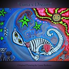 "New - ""Luna's Dream"" - Original Painting 28""x22"""