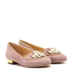 mytheresa.com - VIRGO SUEDE SLIPPER-STYLE LOAFERS - loafers & moccasins - shoes - Luxury Fashion for Women / Designer clothing, shoes, bags