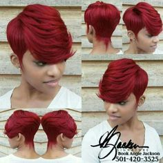 Long pixie hairstyles are a beautiful way to wear short hair. Many celebrities are now sporting this trend, as the perfect pixie look can be glamorous, elegant Quick Weave Hairstyles, Pretty Hairstyles, Girl Hairstyles, Short Red Hairstyles, Braided Hairstyles, Short Quick Weave, 27 Piece Quick Weave, Quick Weave Styles, Short Hair Cuts