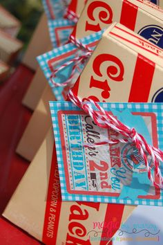 Making Milestones and celebrating birthdays! Party favor for a vintage or retro birthday party