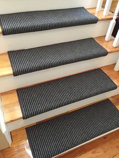 Saville Row Earl Grey Wool True Bullnose™ Carpet Stair Tread - For Safety Comfort Dog Cat Pet (Sold Each) Types Of Carpet, Carpet Styles, Grey Carpet, Modern Carpet, Bullnose Carpet Stair Treads, Stair Carpet, Affordable Carpet, Carpet Remnants, Carpet Manufacturers