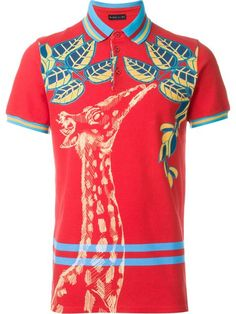 Shop Etro giraffe print polo shirt    in Yusty from the world's best independent boutiques at farfetch.com. Shop 400 boutiques at one address.
