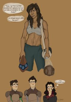 Once upon a time, Korra was so tired that she forgot to fix her hair before she went to practice. And then she forgot her shirt. And then everyone got a boner. The end.