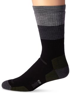 Point6 Block Stripe Medium Crew Sock ** Wow! I love this. Check it out now! : Hiking clothes