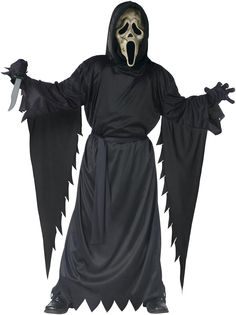 scream 4 zombie ghost face kids costume from costumeexpresscom - Halloween Scary Costumes For Boys