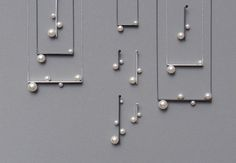 Delicate round pearl with heavy steel lines... beautiful combo <3 // #FRENDS trend