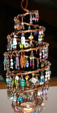 The Chandelearring - Hanging Earring & Candle Holder with Free Holiday Earrings Before X-Mas