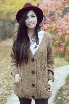 Oversized Knit Cardigan Sweater! what can i say i love fall and sweater weather! :)