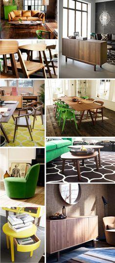 Ikea Stockholm collection love interior design walnut veneer green