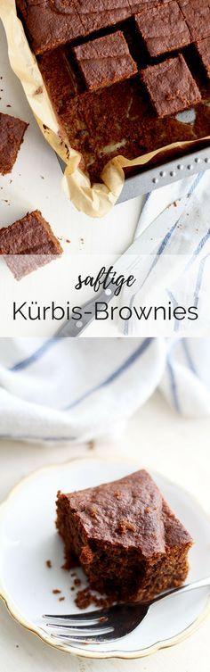 Einfaches Rezept für saftige Kürbis-Brownies. Rezept für den Herbst: Brownies mit Kürbis.