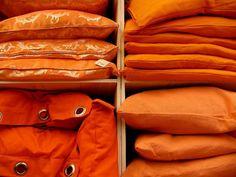 Orange cushions by coanri on Flickr.