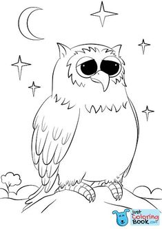 Free Cutest Cartoon Owl Coloring Pages and others free printable coloring pages for kids and adults! Just free for you! Alphabet Coloring Pages, Free Printable Coloring Pages, Coloring Sheets, Coloring Books, Disney Halloween Coloring Pages, Letter O Crafts, Coloring Pages Inspirational, Coloring Pages For Kids, Kids Coloring