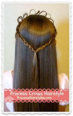 Astonishing Princess Braids From Princess Hairstyles Half Up Styles Hairstyles For Men Maxibearus
