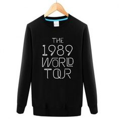 The 1989 World Tour Taylor Swift sweatshirt crew neck design