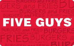 Five Guys is coming to Wake Forest - Bill would love a gift certificate from there - here is the link too.. they will mail the card to your house