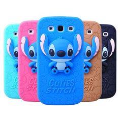 Cute Samsung Galaxy S3 i9300 Stereoscopic Stitch Cases Back Cover