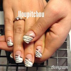 nails gel short french tips French Tip Gel Nails, French Tip Nail Designs, White Tip Nails, Sparkle Gel Nails, Aqua Nails, Fingernail Designs, Toe Nail Designs, Gel Acrylic Nails, Gel Nail Art