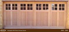 Ranch House Doors Wood Garage Doors, House Doors, Ranch, Outdoor Decor, Home Decor, Wooden Garage Doors, Guest Ranch, Decoration Home, Room Decor