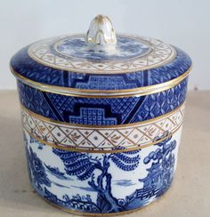Super Rare Booths Real Old Willow Preserve Pot 1921-44