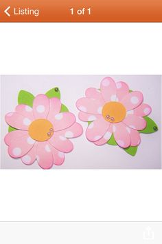 Use patterned paper for flowers