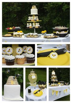 Cute Mom-To-Bee complete party package.
