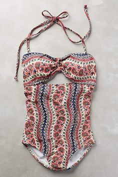 Lauren Moffatt Paisley Twist One-Piece - anthropologie.com #anthrofave #anthropologie