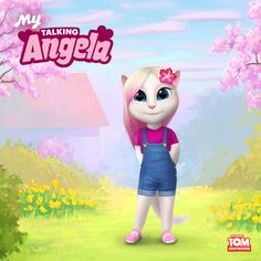 Whaddya think of my new outfit, #LittleKitties!? I LOVE MY SPECIAL NEW DRESS! xoxo, Talking Angela
