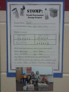 Stomp lesson plan Elementary music 4th/5th grade