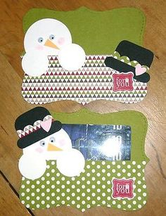 Stampin' Up! Snowman Top Note Gift Card Holder kit