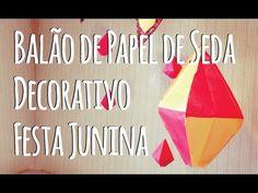 Material Necessário:- 2 Folhas de Papel Seda, você também pode usar jornal, papel fantasia e outros - Tesoura - Régua- Lapiseira- Cola Bastão ou Branca- Barban
