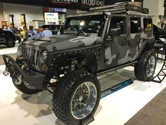 I'm not a fan of Camouflage but this Jeep Wrangler is AWEsome!