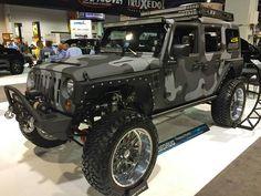 Black camo Jeep