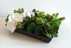 Modern Floral & Succulent Arrangement with by ArtsFloralDesign, $53.00