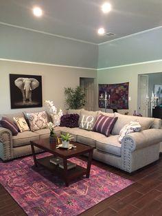 Purple living room!!