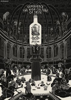Held Vodka: Greek temple | #ads #adv #marketing #creative #publicité #print #poster #advertising #campaign < found on www.adsoftheworld.com pinned by www.BlickeDeeler.de | Visit our inspirational website www.Printwerbung-Hamburg.de