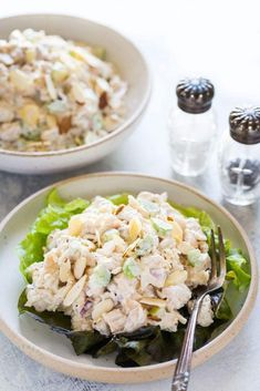 Low Carb Chicken Salad is a healthy spin on traditional Southern Chicken Salad, but with a few tweaks to reduce the carbs, suitable for Keto, paleo and diets. Low Carb Chicken Salad, Chicken Salad Recipes, Gluten Free Recipes, Low Carb Recipes, Healthy Recipes, Whole30 Recipes, Side Recipes, Keto Foods, Quinoa