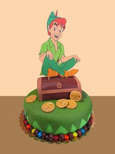 Peter Pan Cake made for Tiz's 5th birthday party (2016) Made by Patty-Cakes #PeterPan #Disney #CakeDesign